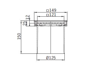 Верхняя часть из пластика Aco 5141.24.00 для душевого трапа Aco Easy Flow
