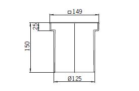 Верхняя часть из пластика Aco 5141.38.00 для душевого трапа Aco Easy Flow
