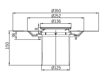 Верхняя часть из пластика Aco 5141.42.00 для душевого трапа Aco Easy Flow