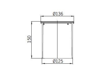 Верхняя часть из пластика Aco 5141.43.00 для душевого трапа Aco Easy Flow