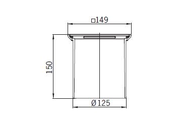 Верхняя часть из пластика Aco 5146.43.00 для душевого трапа Aco Easy Flow