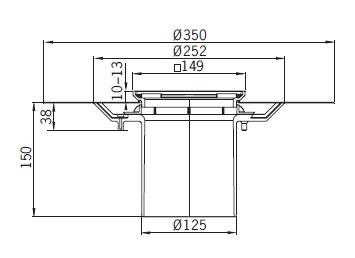 Верхняя часть из пластика Aco 5141.48.00 для душевого трапа Aco Easy Flow