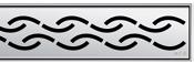Решетка Aco Цепочка для душевого канала Aco E-line
