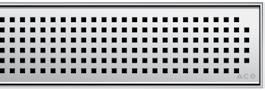 Решетка Aco Квадрат для душевого канала Aco E-line