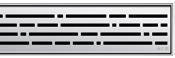 Решетка Aco Микс для душевого канала Aco E-line