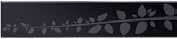 Стеклянная решетка Aco Черная с гравировкой для душевого канала Aco E-line