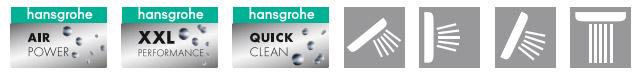 Душевая панель Hansgrohe (Хансгрое) Pharo (Фаро) SkyLine (Скайлайн) 26017000 для ванной комнаты и душа