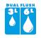 Jika Dual Flush - Двойное смывание на 3/6 литра