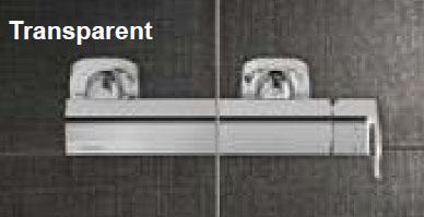 Вид шторки Ravak - Transparent - стекло