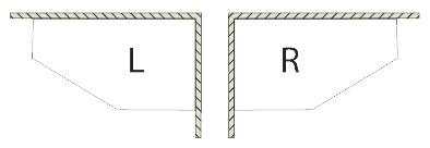Вариант асимметричной ванны Riho - левая или правая