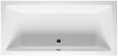 Цветная прямоугольная акриловая ванна Riho Lusso