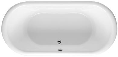 Цветная овальная акриловая ванна Riho Seth